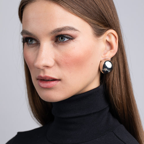 InStyle/April 2019 - Polished Silver Button Clip Earrings