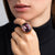 Tatler/November 2019 - Antique Gold and Coral with Amethyst Center Ring