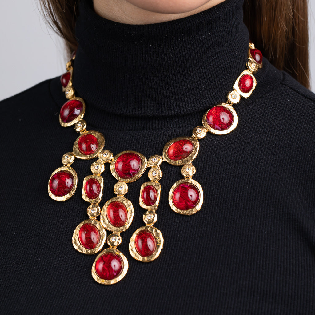 Flawed Ruby Drop Necklace