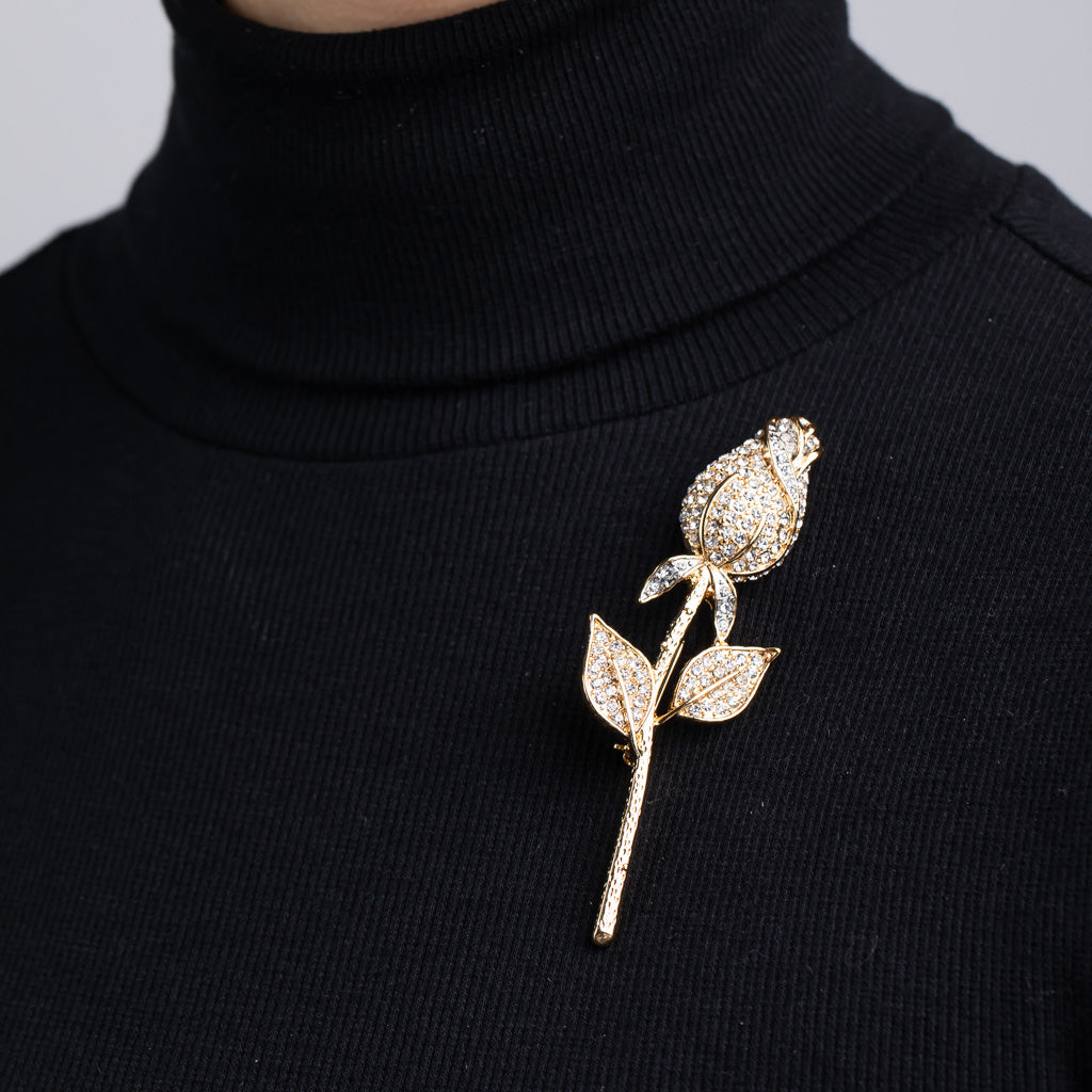 Essence/November 2019 - Two Tone Leaves Rose Pin