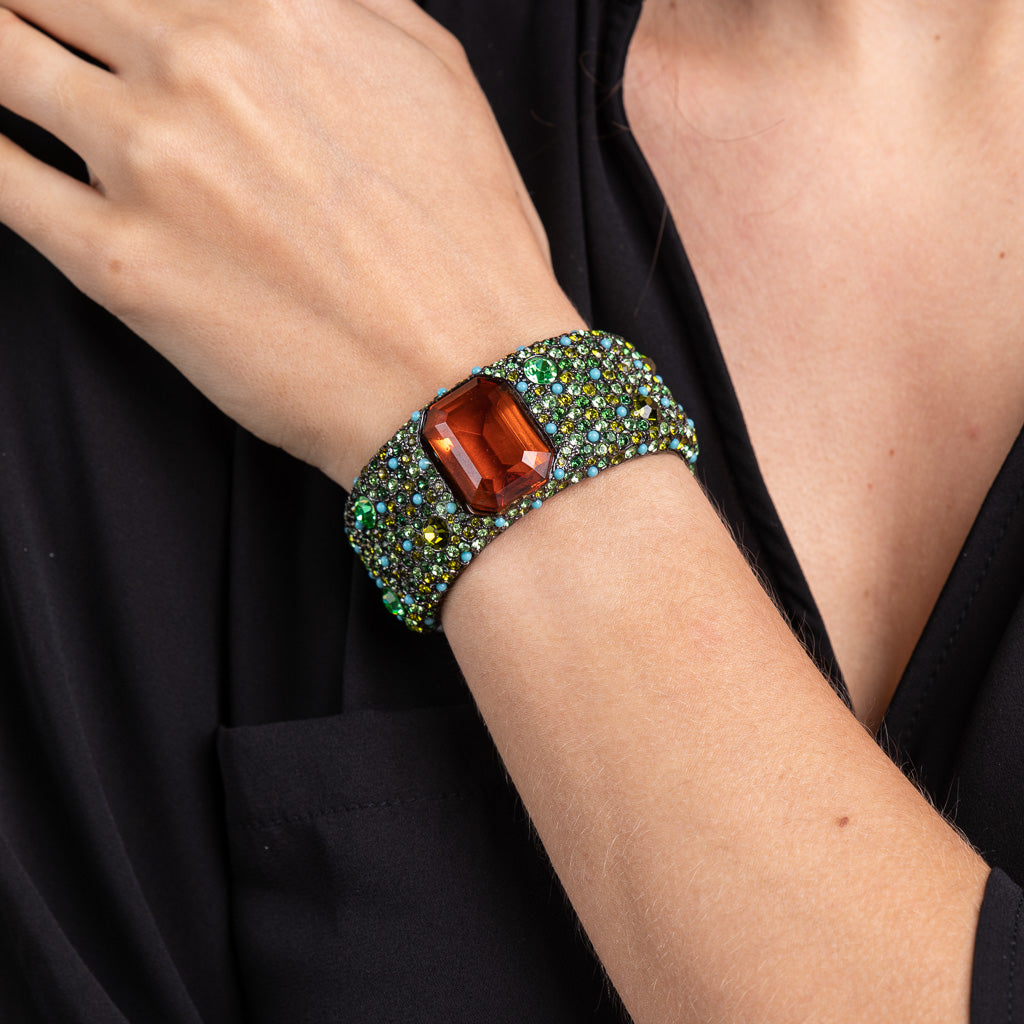 Topaz Center Stone Cuff Bracelet
