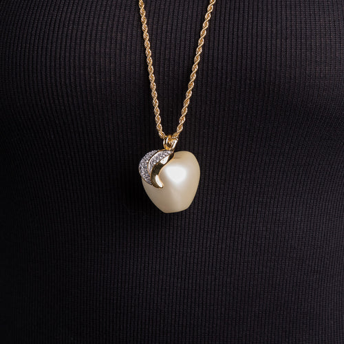 Pearl Apple Pendant Necklace