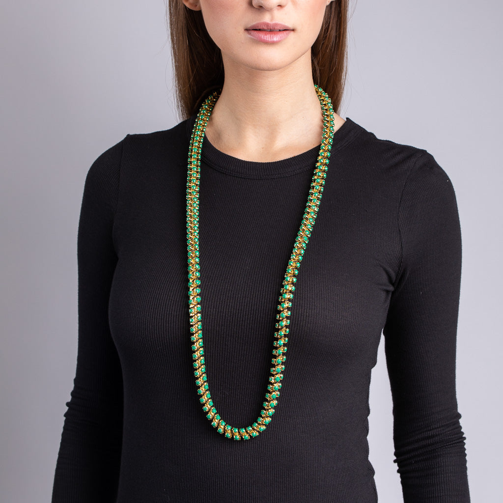 Green Rope Necklace