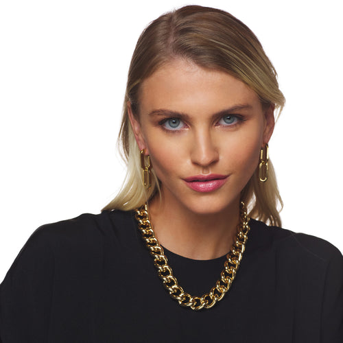 Polished Gold Chain Necklace