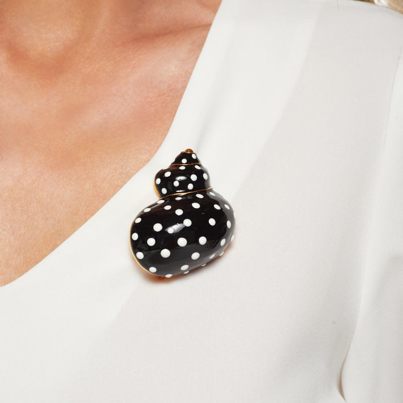 Black Snail Pin