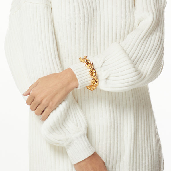 Gold Twist Chain Bracelet