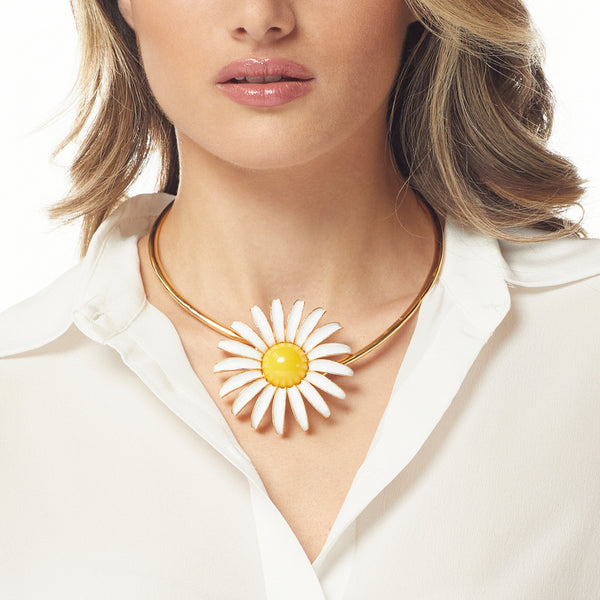 Yellow Daisy Collar Necklace