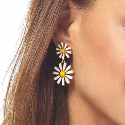 Daisy Drop Pierced Earring