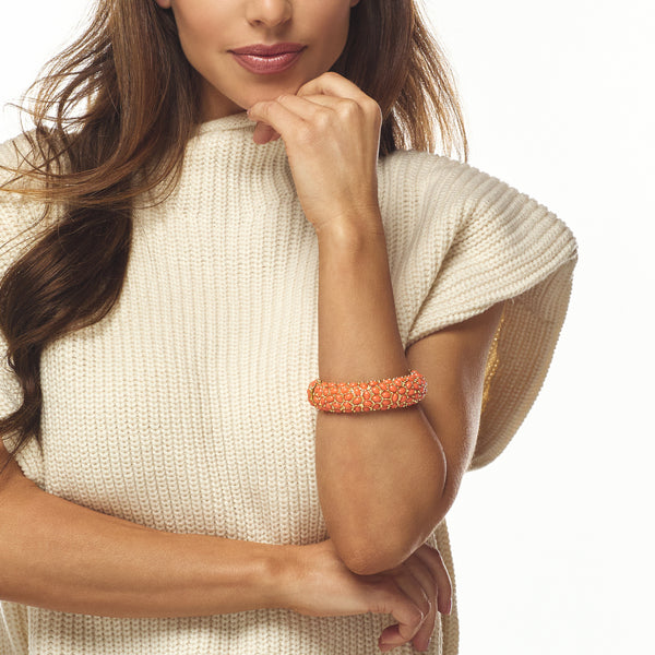 Light Coral Cabouchon Bracelet