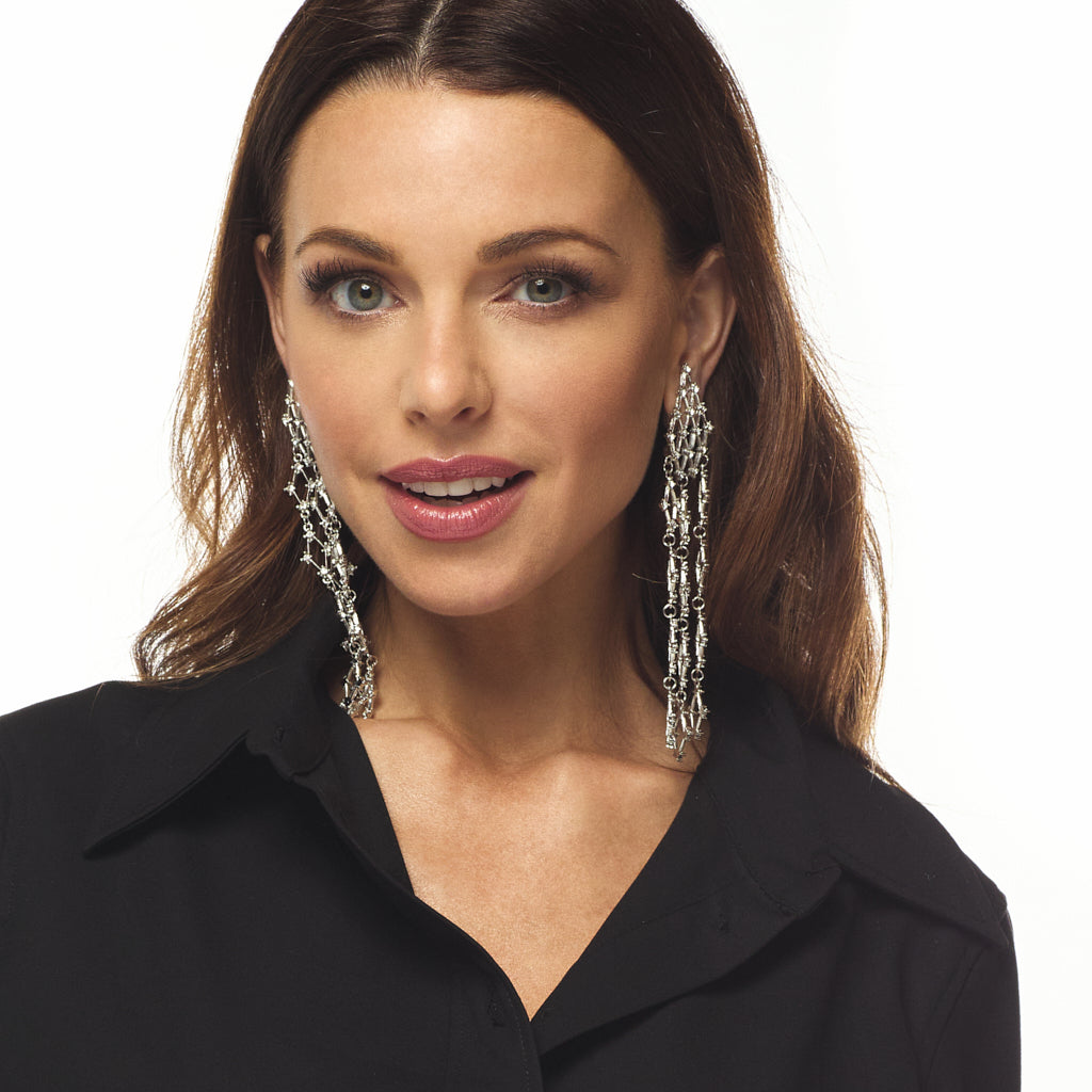 Diamond Waterfall Clip Earring