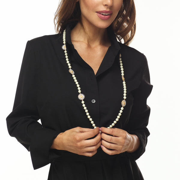 Cultura Pearl Daisy Necklace
