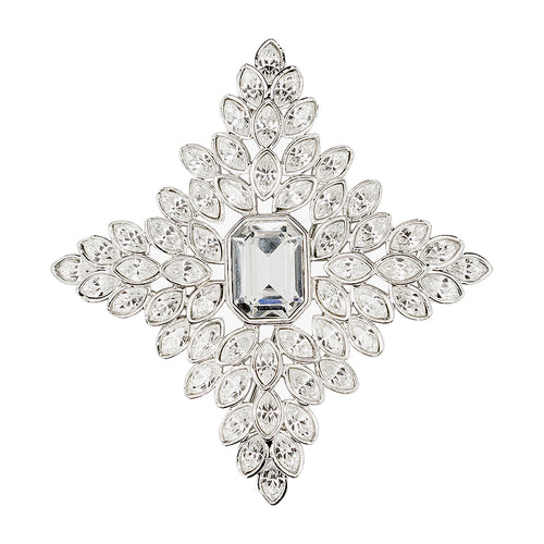 Crystal Cruciform Brooch