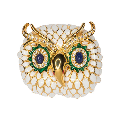 Essence/ May 2018 - White Owl Brooch