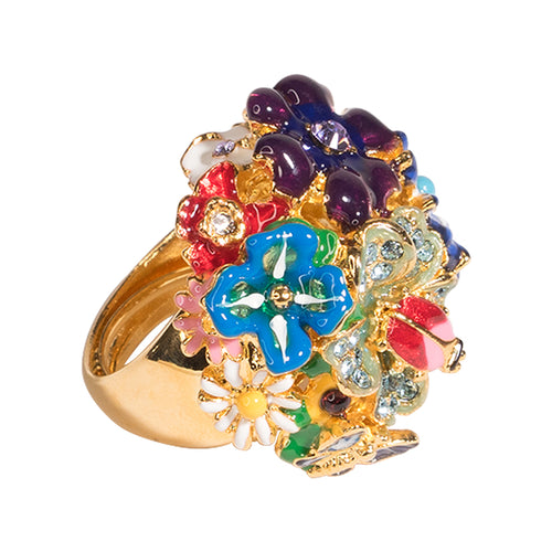 Multicolored Flower Ring