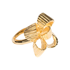 Polished Gold Bow Ring