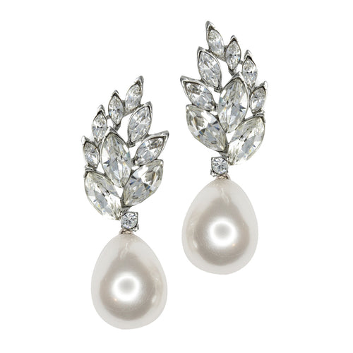 Pearl Teardrop Pierced or Clip Earrings