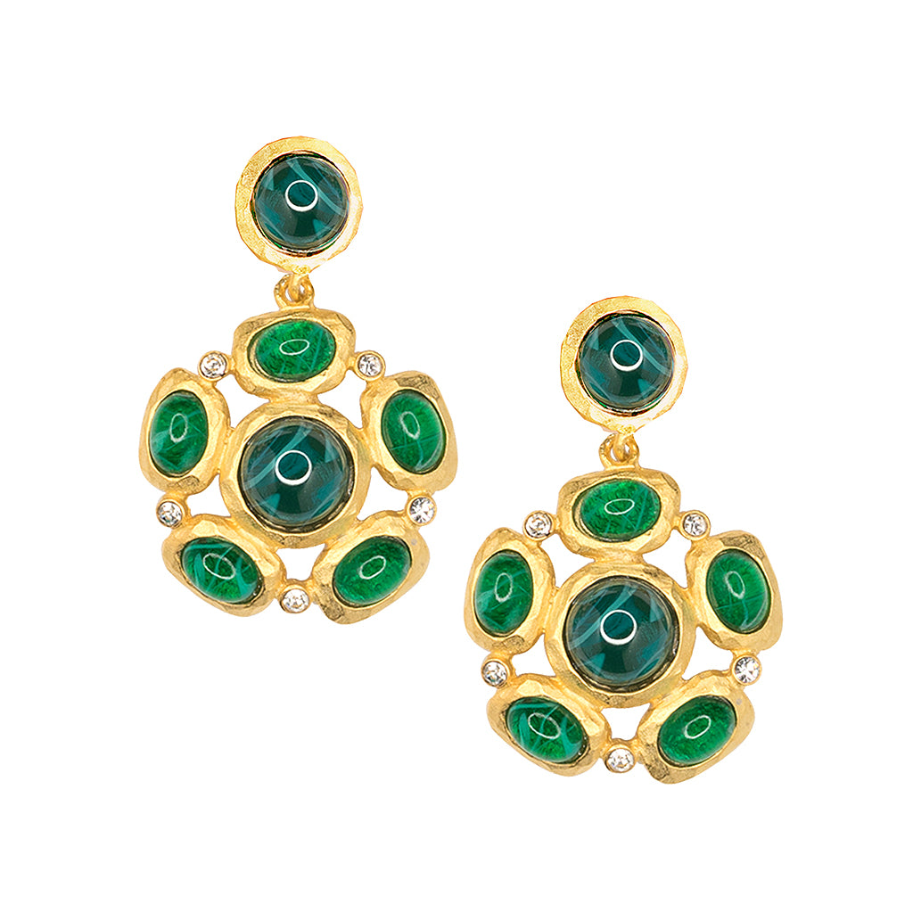 Kenneth Jay Lane Gold And Crystal Setting Emerald Stone Center Clip Earring Gold/emerald DCIIyvGV