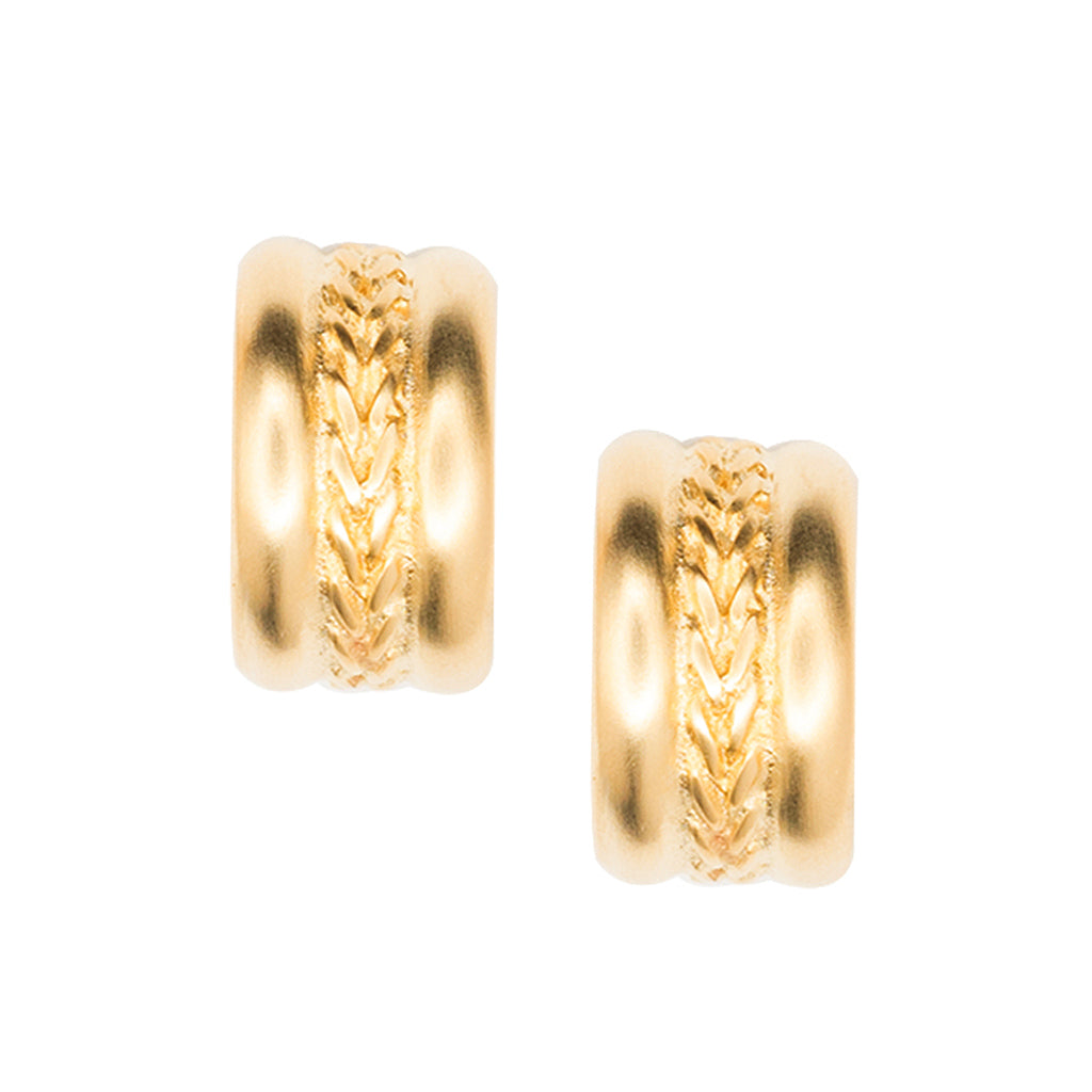 Braid Design Hoop Clip Earrings