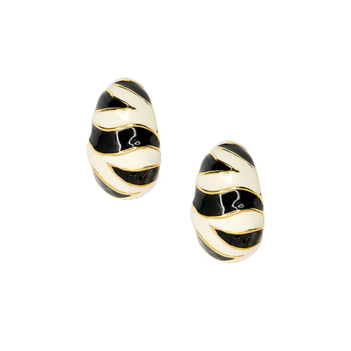 Tiger Stripe Pierced or Clip Earrings