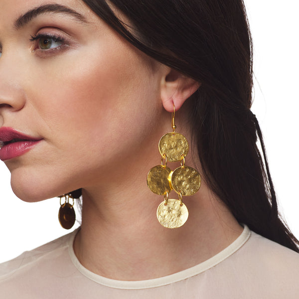 Textured Coin Earring