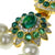 3 Row Pearl and Emerald Clasp Necklace