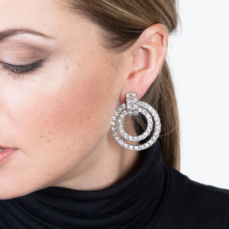 Double Doorknocker Clip Earrings