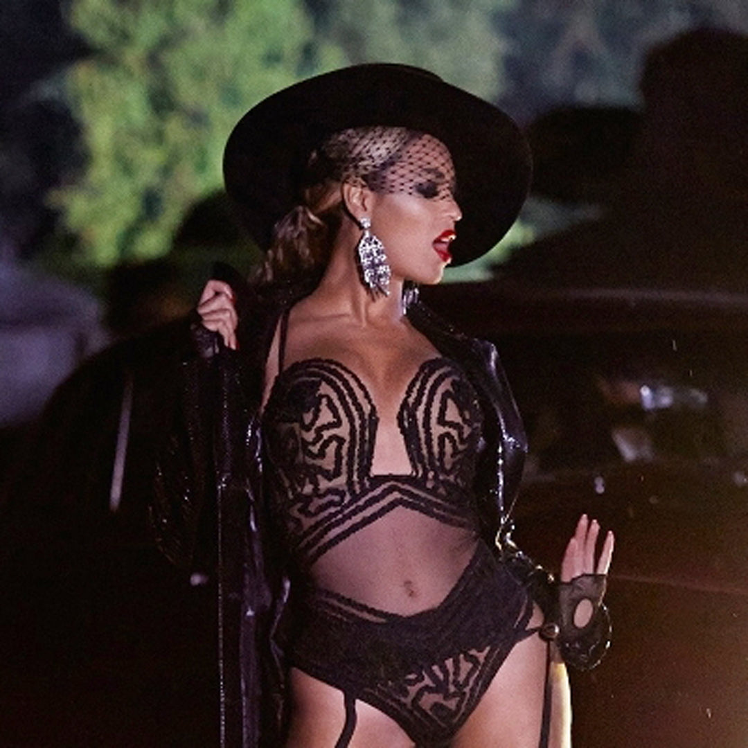 Beyonce in the Gunmetal and Crystal Waterfall Clip Earring
