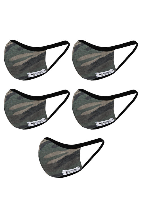 THE CAMO PACK (5) - QUICK SHIP- MASKS FOR MEN AND WOMEN