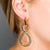 Polished Gold Figure 8 Loop Pierced Earrings