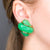 Jade Shell Clip Earrings