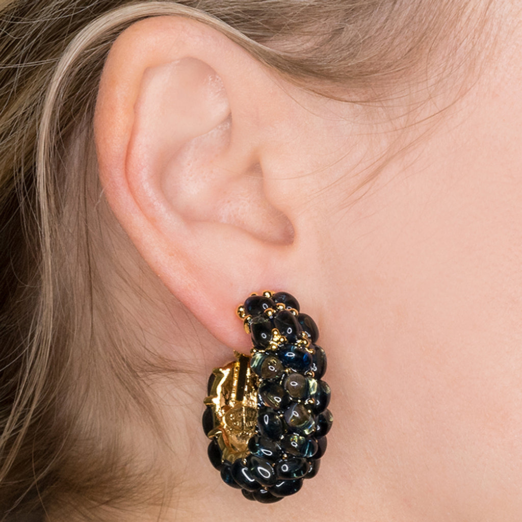 Cabachon Clip Earrings