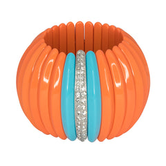 Coral & Turquoise Stretch Cuff