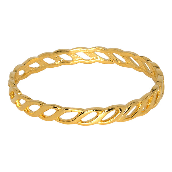 Gold Twisted Link Bangle