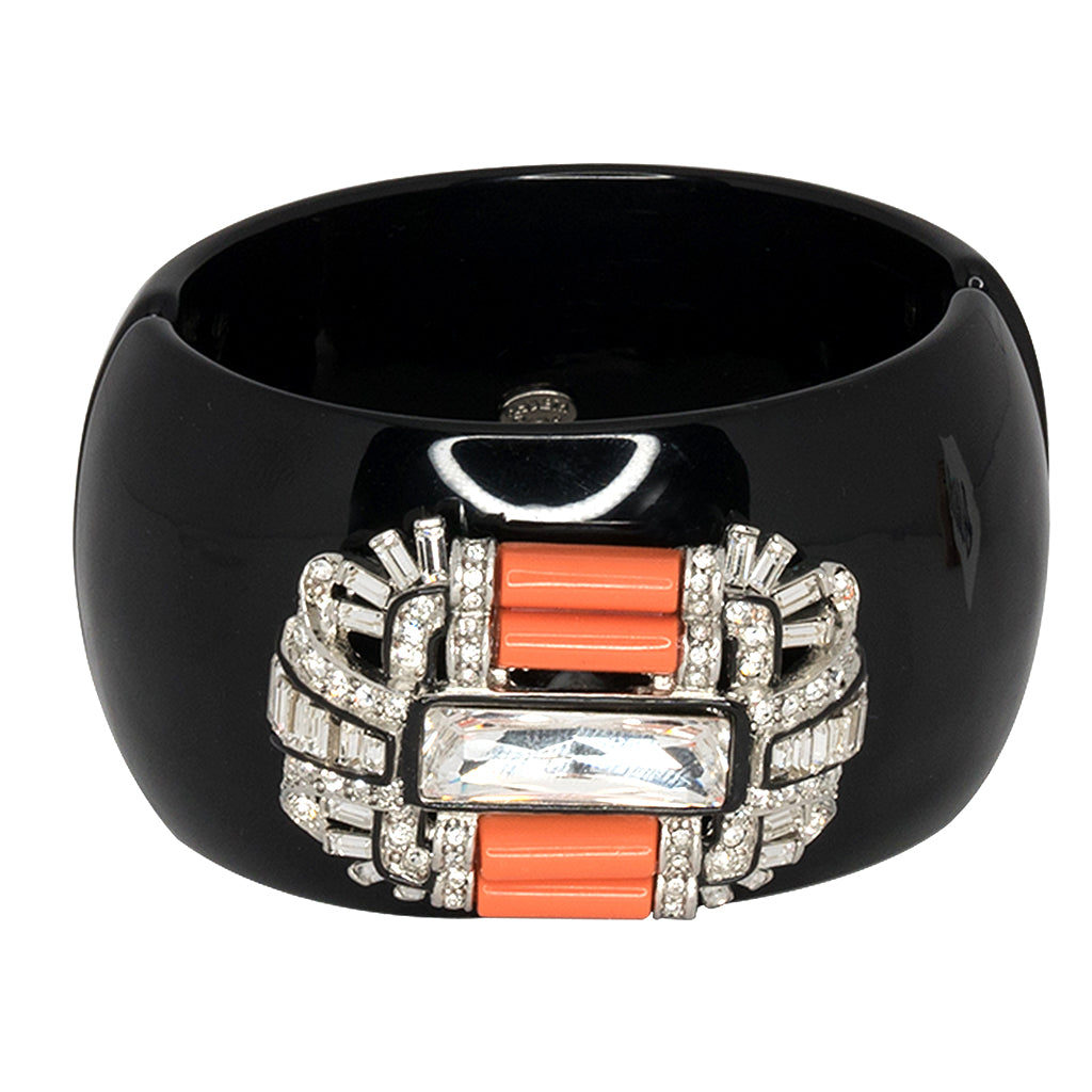 Kenneth Jay Lane Black Coral Cuff Black/coral YcHpY