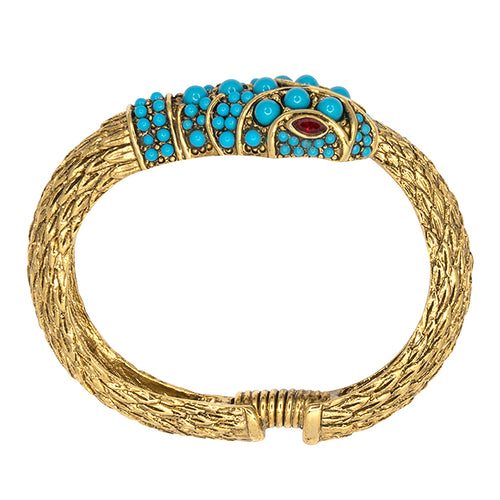 Antique Gold Snake Bracelet