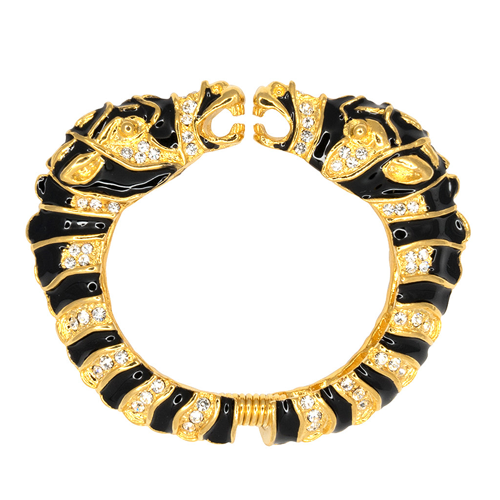 Black & Gold Zebra Head Bracelet