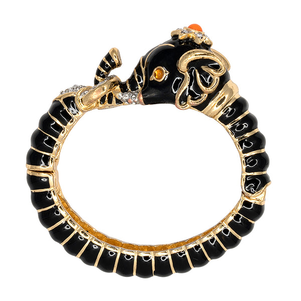 Black Elephant Head Bracelet