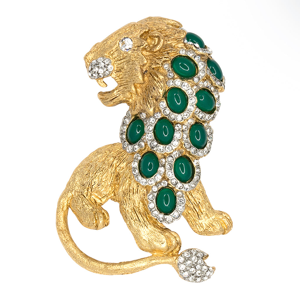 Green & Gold Lion Pin