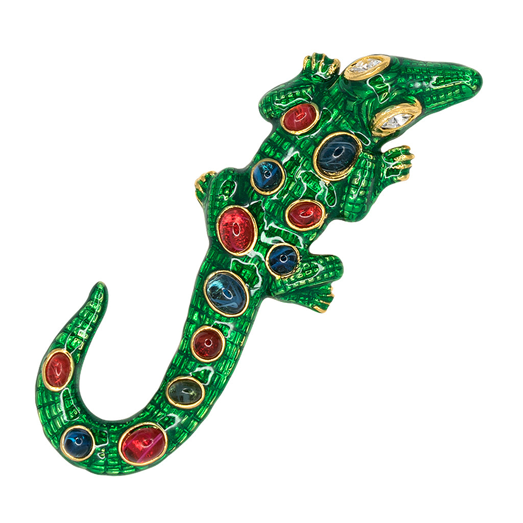Kenneth Jay Lane Alligator Pin Green/multi kAJd8HNtti