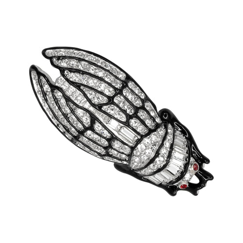 Small Crystal Cicada Pin