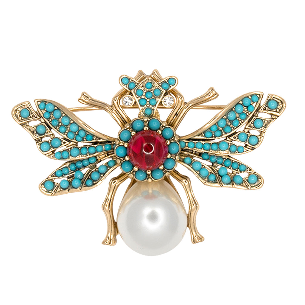 Kenneth Jay Lane Turquoise Bee Pin Turquoise GRhbSHb