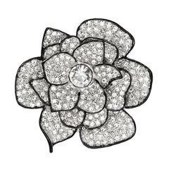 Crystal Center Flower Pin