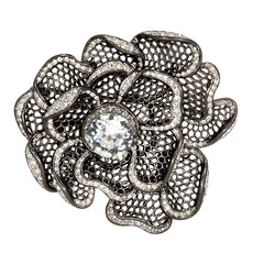 Gunmetal Flower Pin