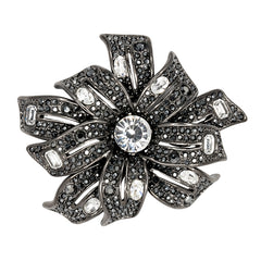 Gunmetal & Crystal Center Pin