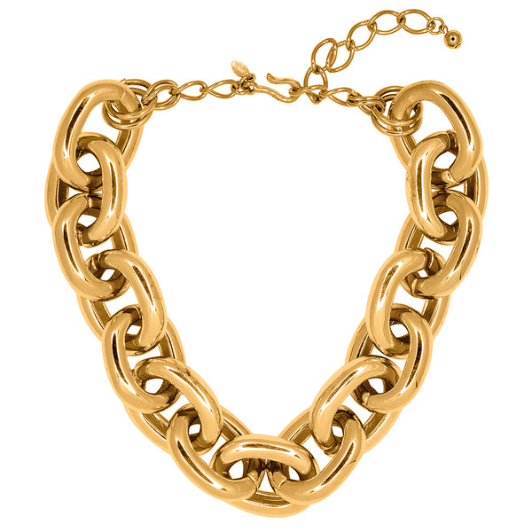 Gold Medium Link Necklace