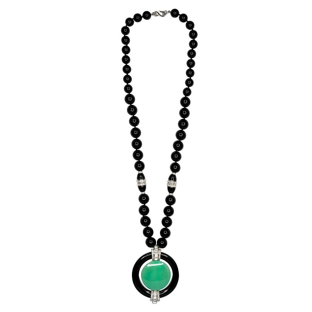 Vanity Fair/ December 2017-Jade Deco Pendant Necklace