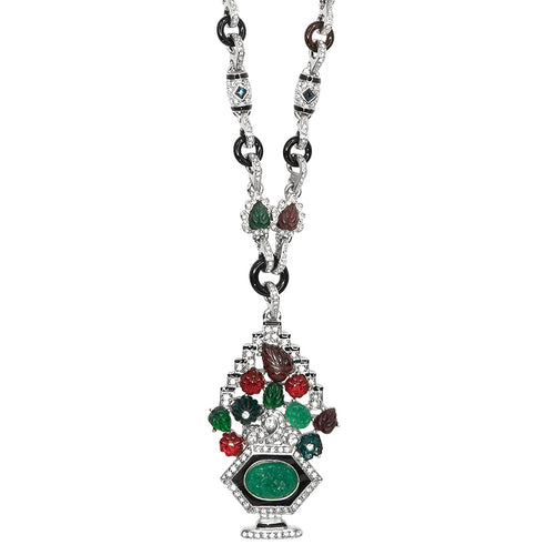 Multi Color Deco Pendant Necklace