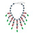 Sapphire, Ruby & Emerald Drop Necklace