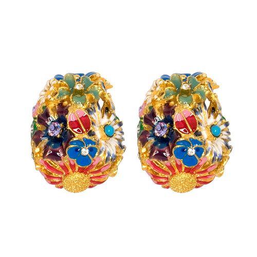 Flower Bug Clip Earrings