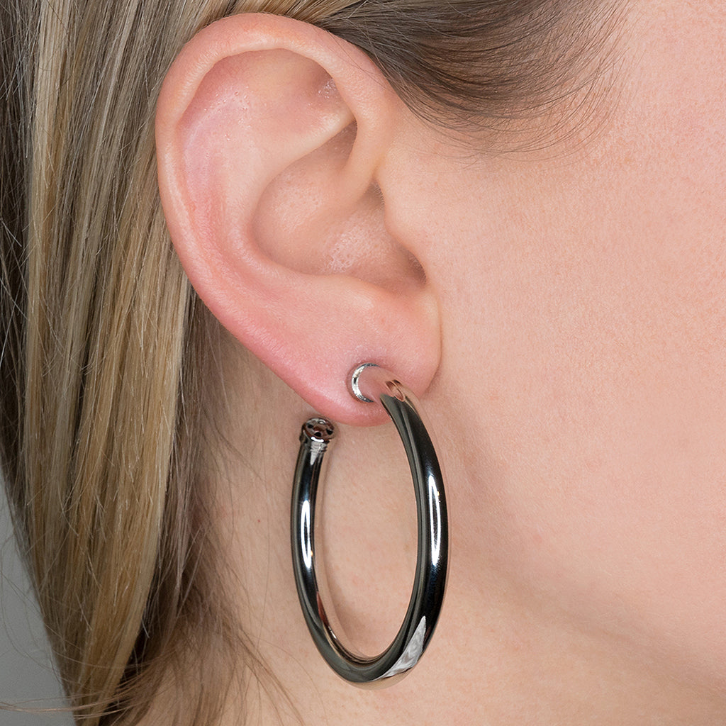 Large Hoop Pierced Earrings